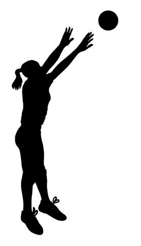 Volleyball Silhouette Setting.