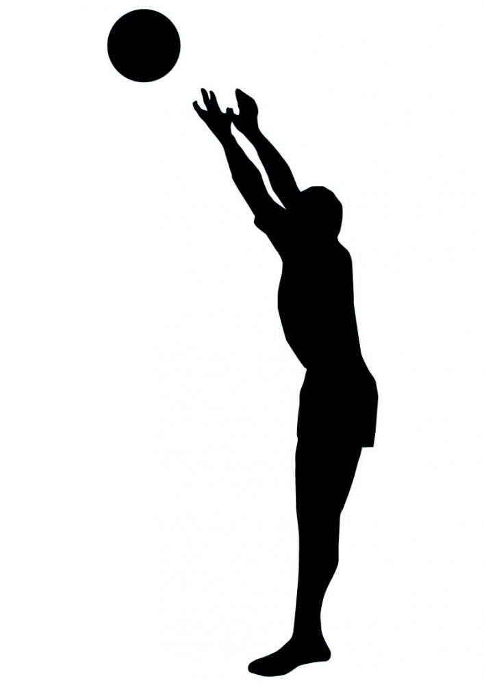 Volley Ball Silhouette.