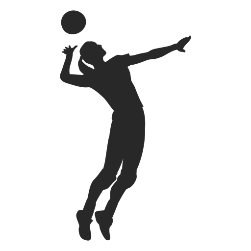 Volleyball player Serve Volleyball spiking Scalable Vector.