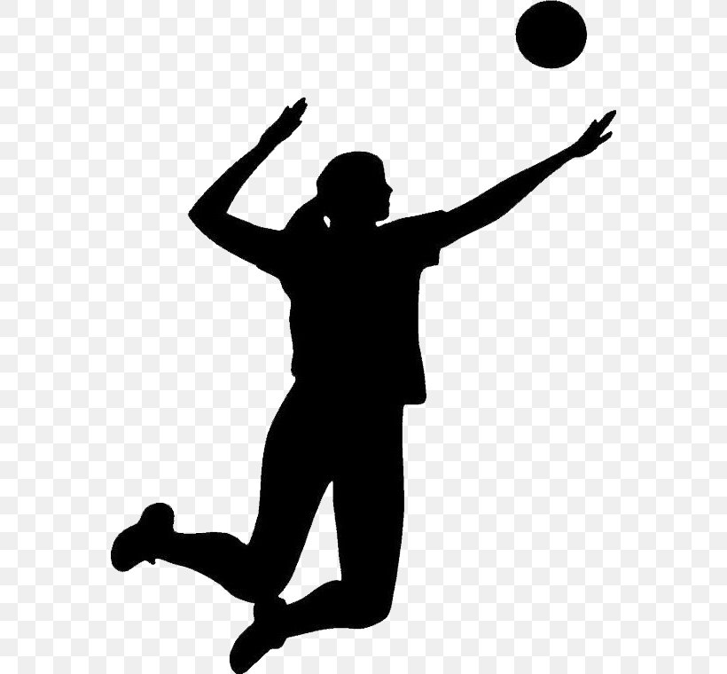 Volleyball Silhouette Clip Art, PNG, 570x760px, Watercolor.