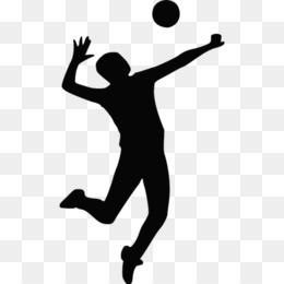 Volleyball Silhouette PNG.