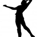 volleyball spike clipart black and white #2