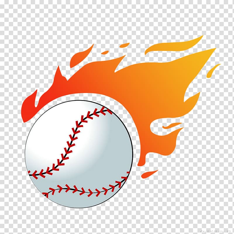Baseball with flames , Baseball Flame Softball , Volleyball.