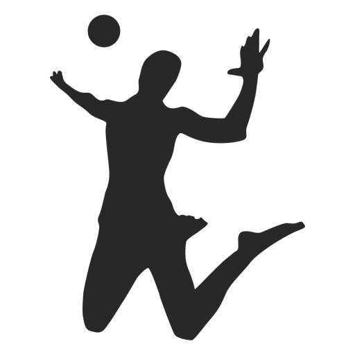 Silhouette Volleyball player Clip art Portable Network.