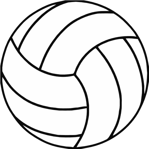 Free Volleyball Clipart Black And White.