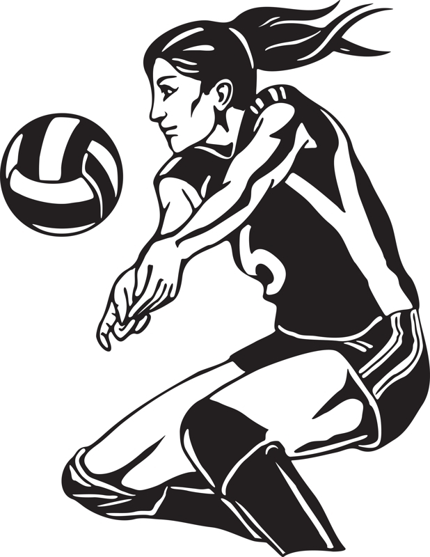 Modern Volleyball Cliparts.