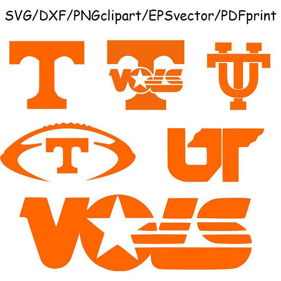 University of Tennessee SVG Tennessee Vols Clipart Cut File.