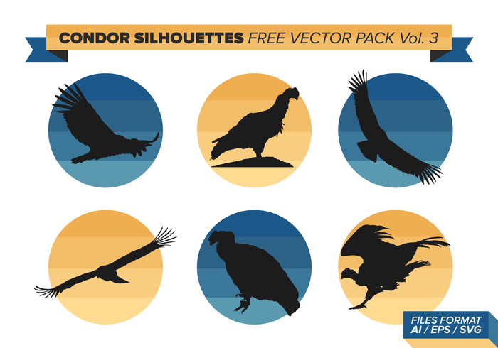 Condor Silhouettes Free Vector Pack Vol. 3.
