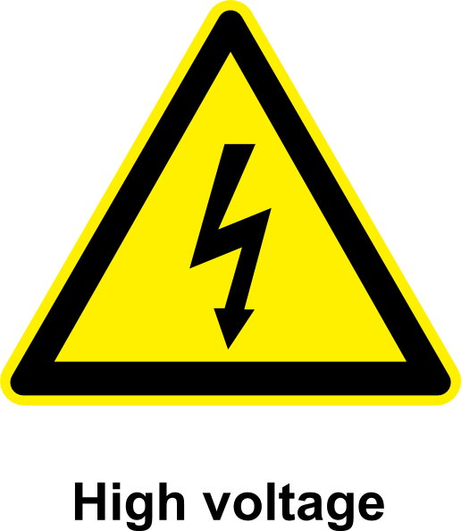 Sign High Voltage clip art Free Vector / 4Vector.