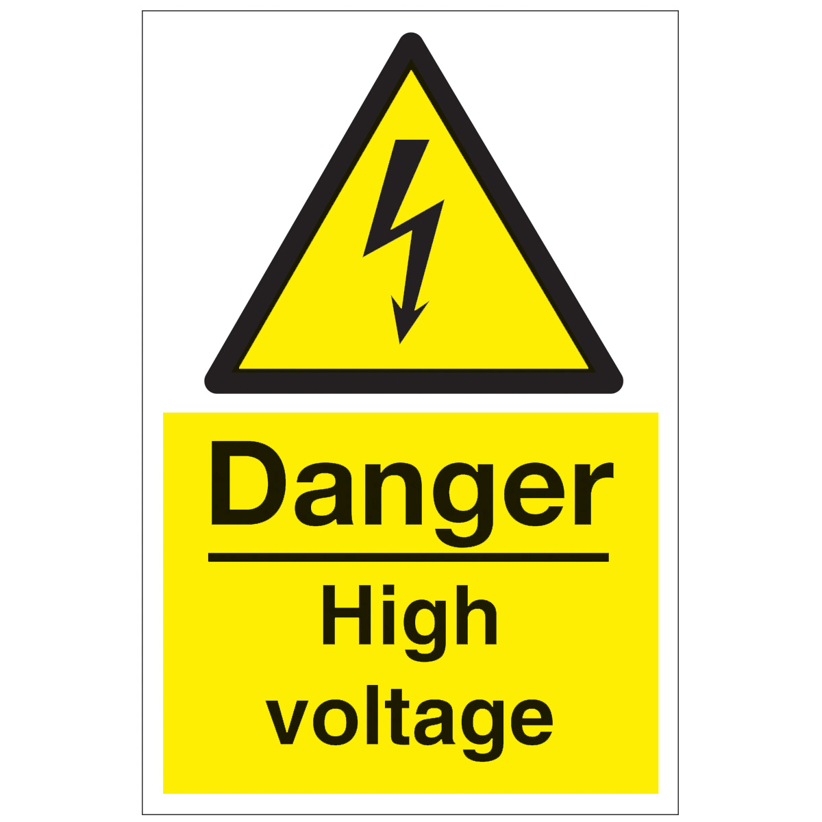 Clipart danger high voltage.