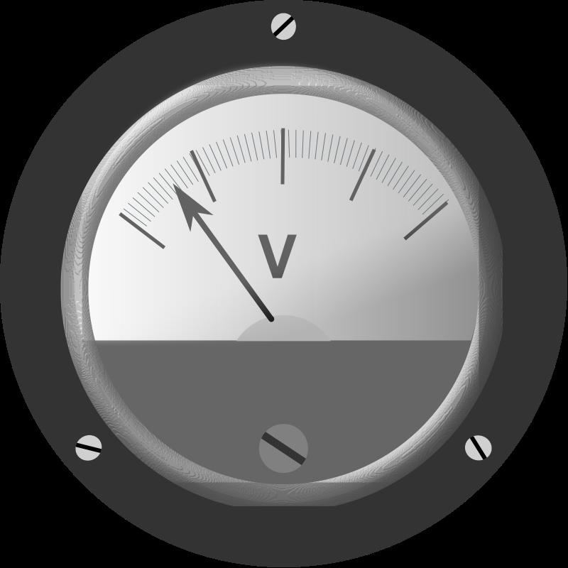 Multimeter Clip Art : Voltmeter clipart clipground