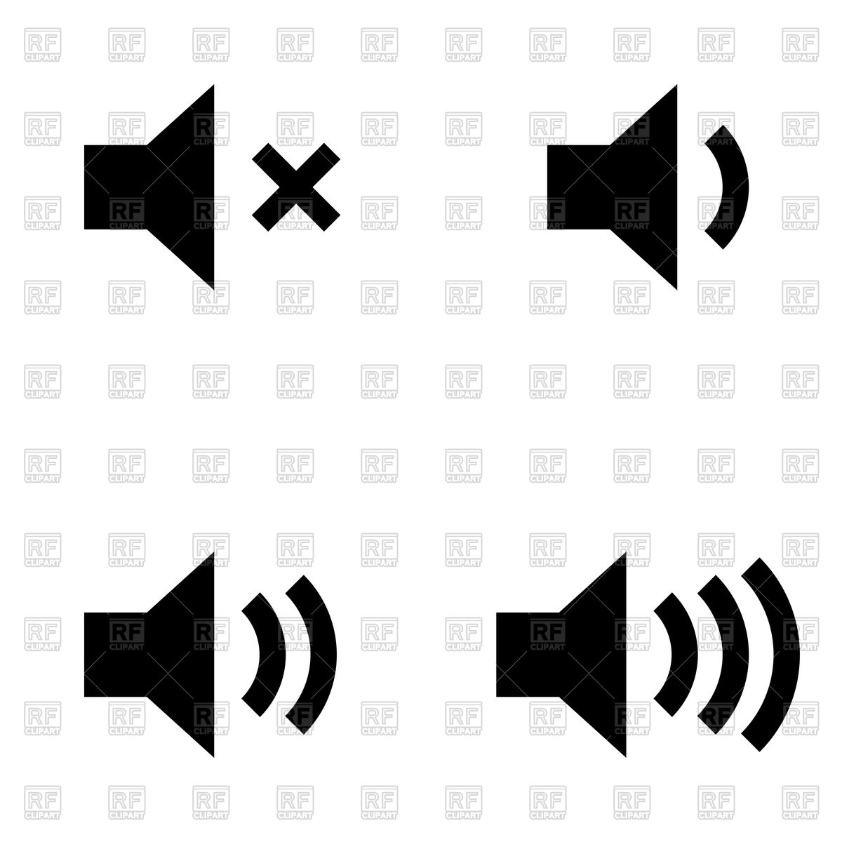Volume black icon Stock Vector Image.