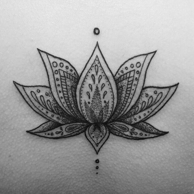 Greyed out lotus Om.