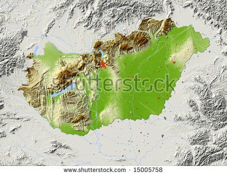 Hungary Map Stock Photos, Royalty.