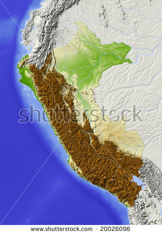 Map Of Peru Stock Photos, Images, & Pictures.