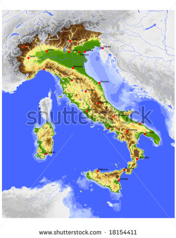 Sicily Map Stock Images, Royalty.