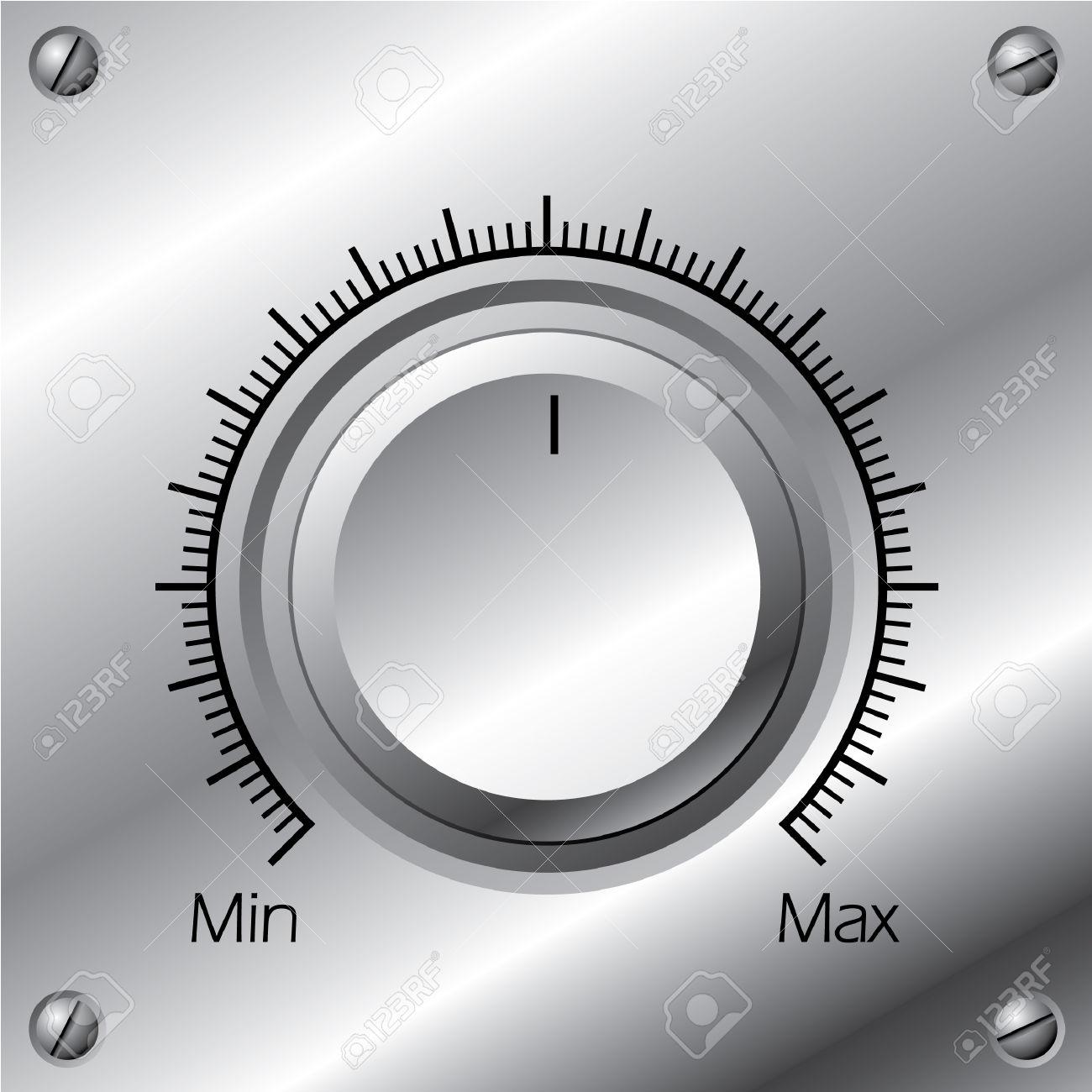 volume control: Volume knob.
