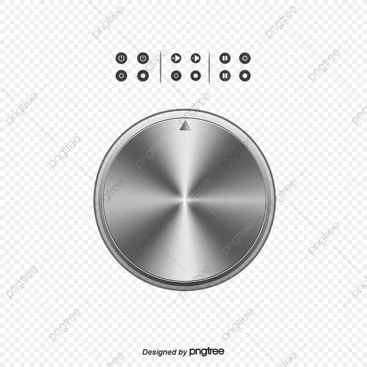 Off Switch And Volume Control Knob Symbols, Switch, Shutdown.