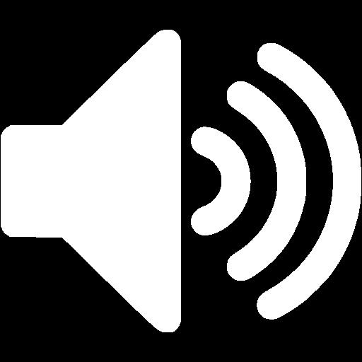 White volume up 4 icon.