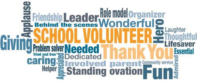 School Volunteer Appreciation Word Cloud.