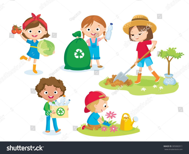 cute kids volunteers.