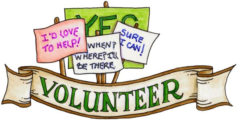 volunteer clipart — Blanco Library.