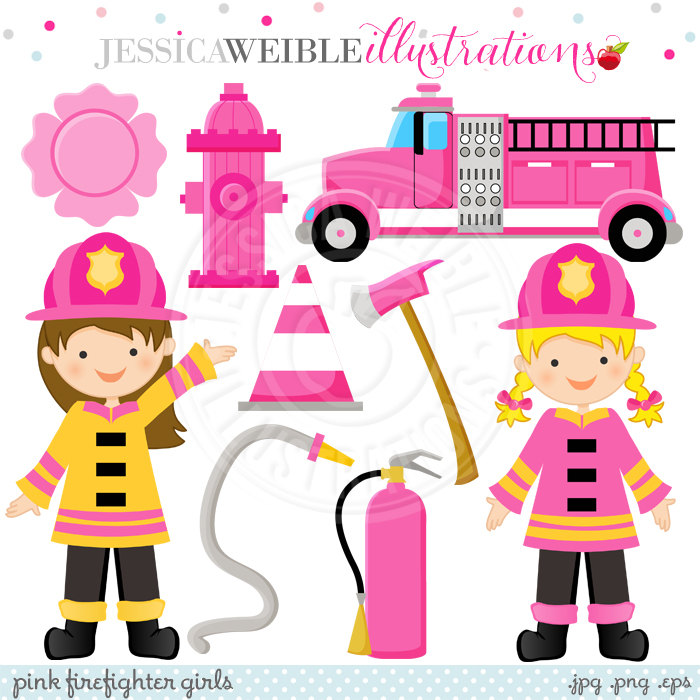 2728 Firefighter free clipart.