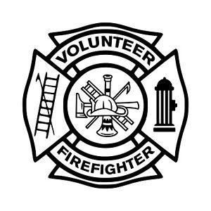 Details about VOLUNTEER FIREFIGHTER Vinyl Decal Sticker VFD Fire Department  Maltese Cross.