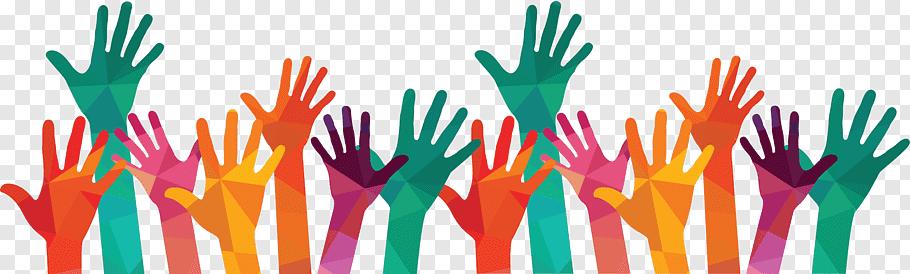 People hands illustration, Volunteering International.