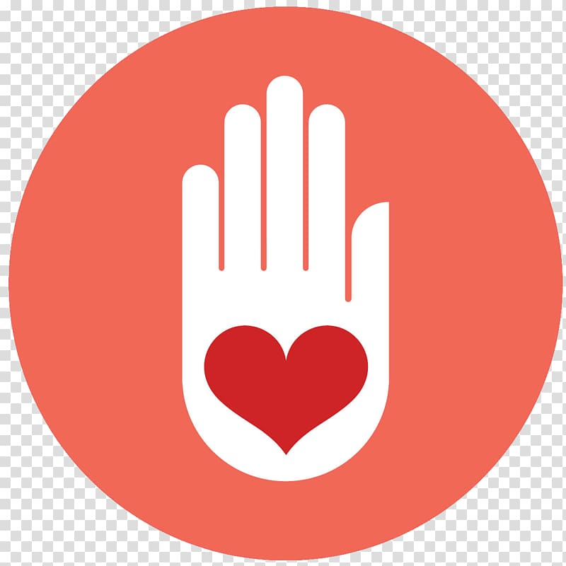 White hand with red heart , Computer Icons Volunteering.