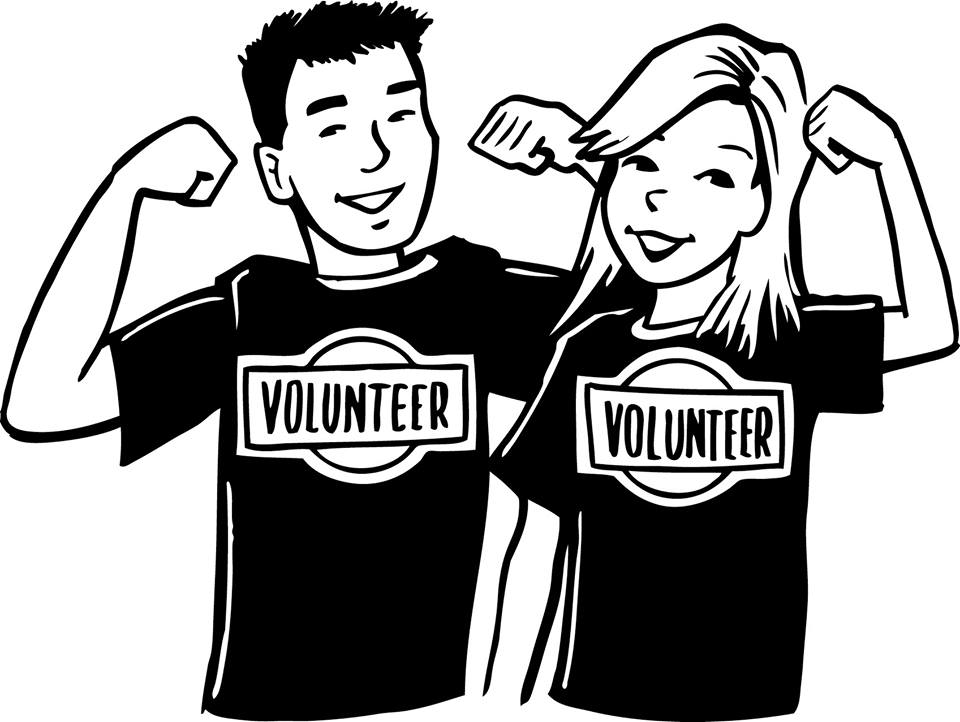 Volunteer Work Clipart Black And White.
