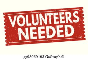 Volunteers Needed Clip Art.