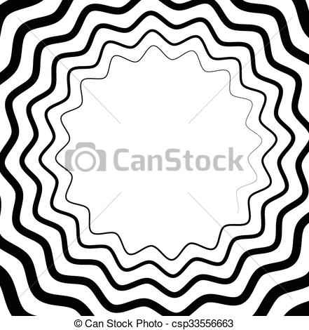 Clip Art Vector of Abstract spiral, helix or volute with wavy.