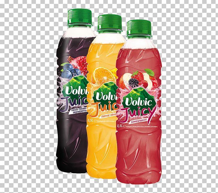 Juice Fizzy Drinks Volvic Orange Plastic Bottle PNG, Clipart.