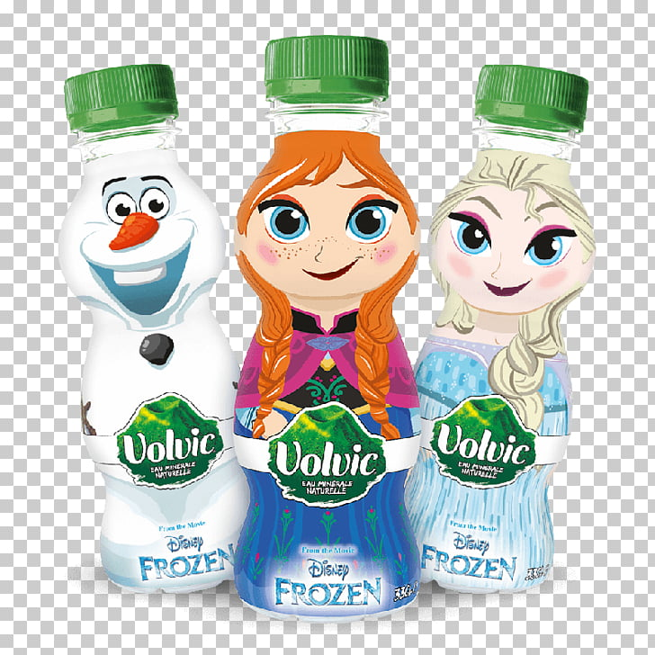 Volvic Water Bottles Mineral water, elsa anna PNG clipart.