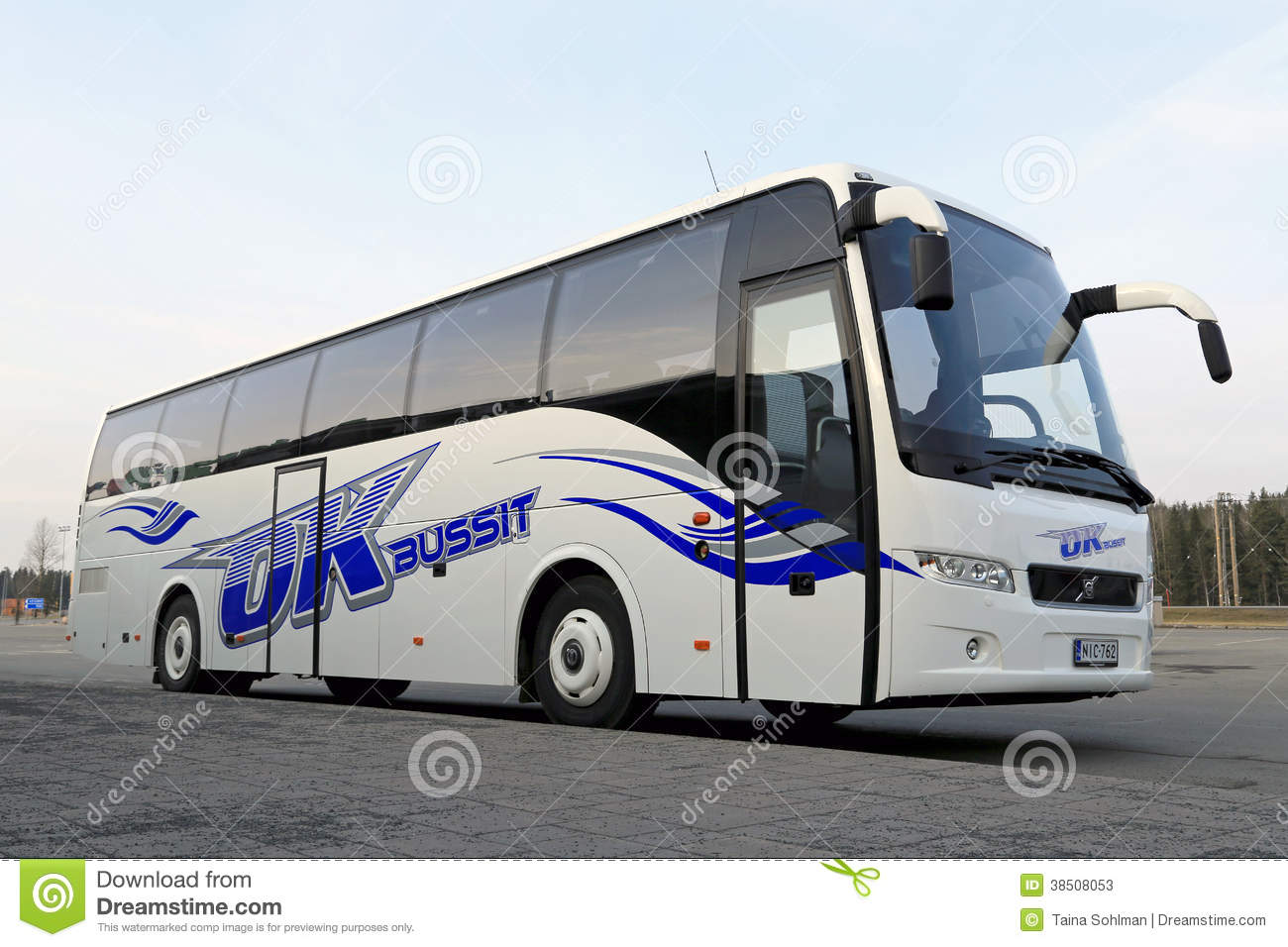 New Volvo Coach Bus Editorial Stock Photo.
