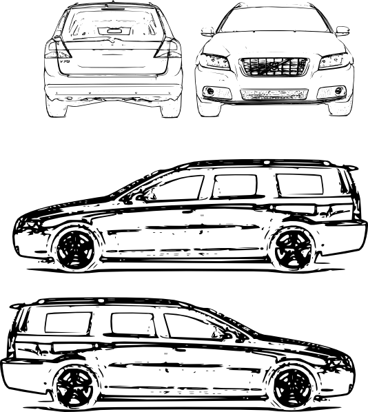 Volvo V All Clip Art at Clker.com.