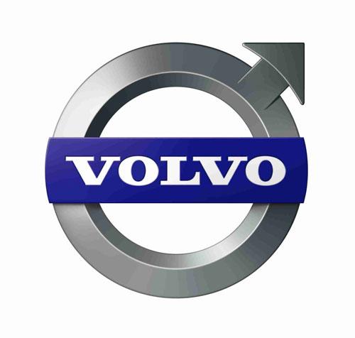 Volvo logo background.