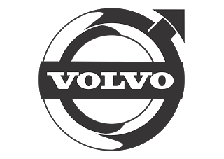 Vector logo download free: Volvo (Design Black White) Logo Vector.