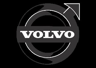 Vector logo download free: Volvo (Design Black White) Logo Vector.