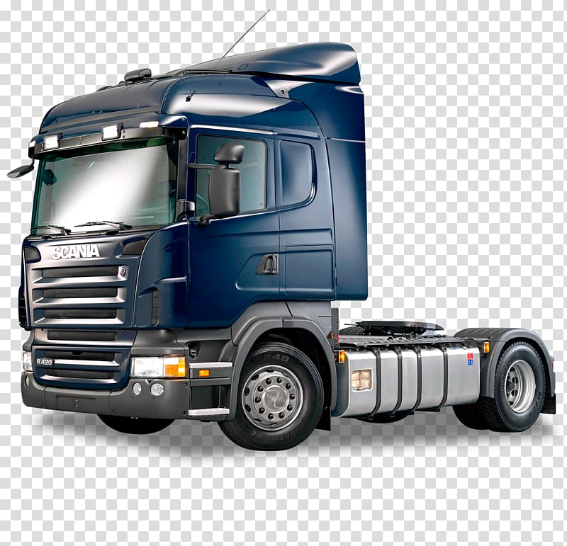 Blue and black gray semi truck, Scania AB Scania 4.