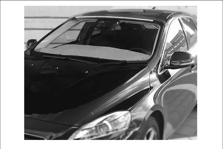 AVIP prototype installed in the test vehicle (Volvo V40)..