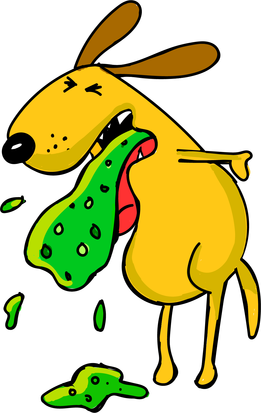 Dog Vomiting Clipart.