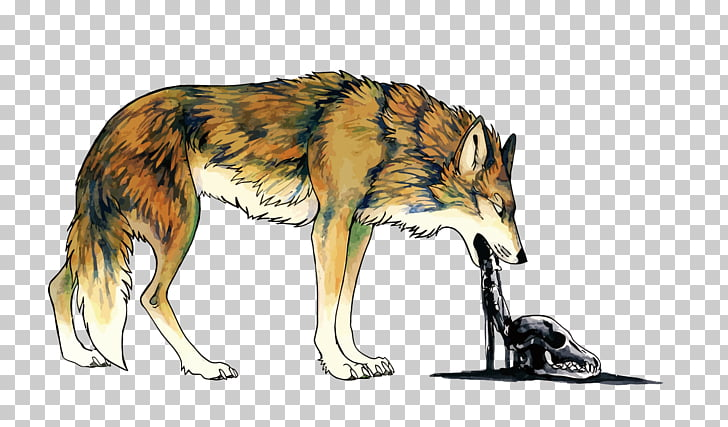 Coyote Dog Vomiting Illustration, vomit Wolf PNG clipart.