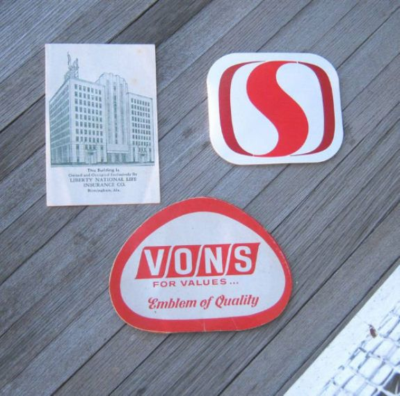 3 Vintage Advertising Needle Books~Safeway Needle Book; Vons.