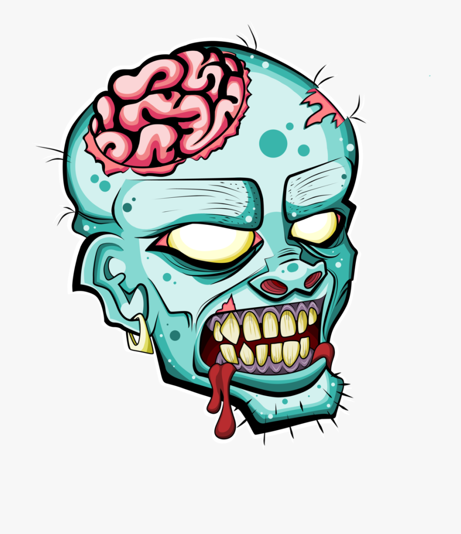 Zombie Head Free Clipart Please Credit By Deadly Voo.