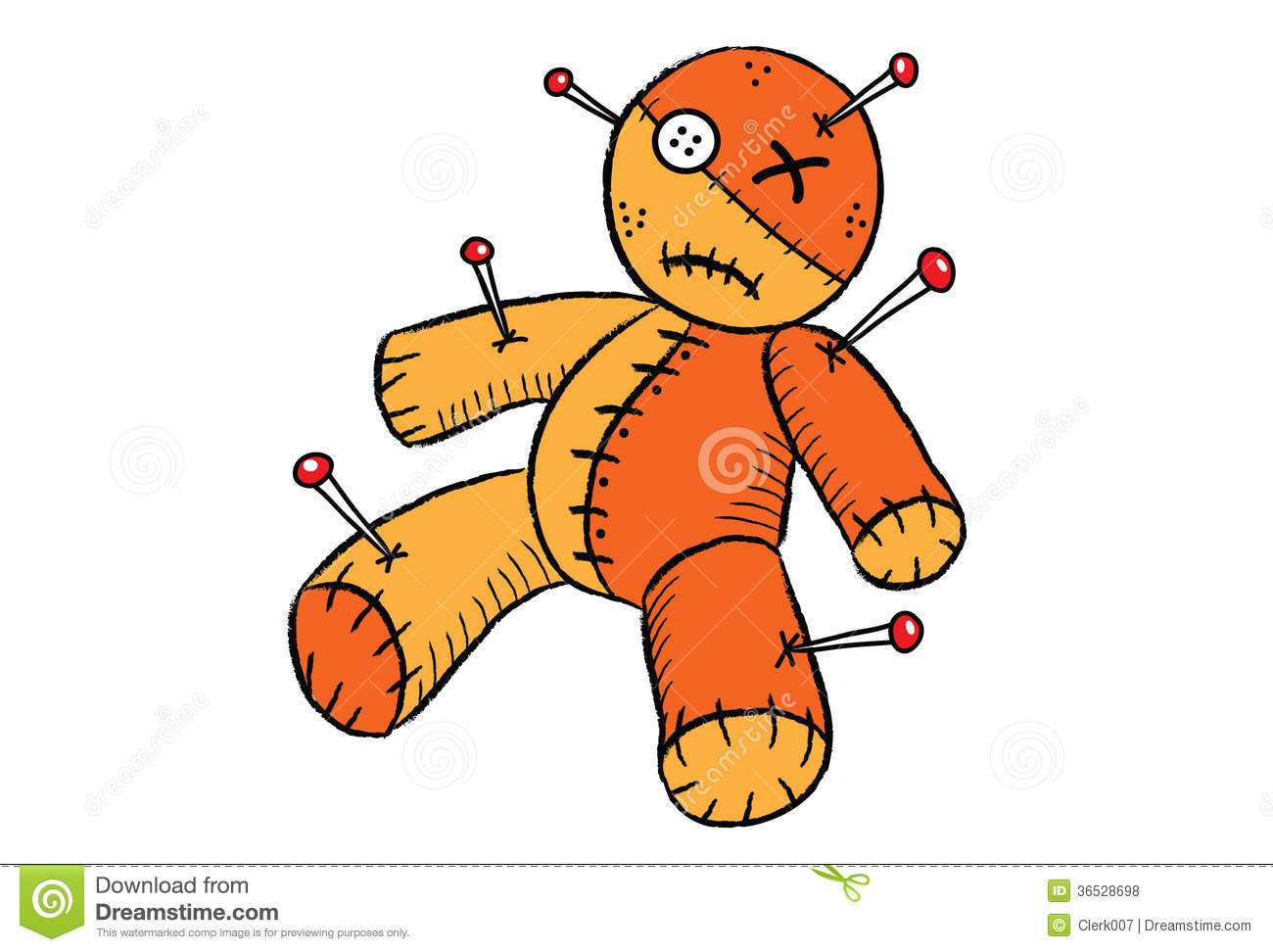 Voodoo doll clipart.