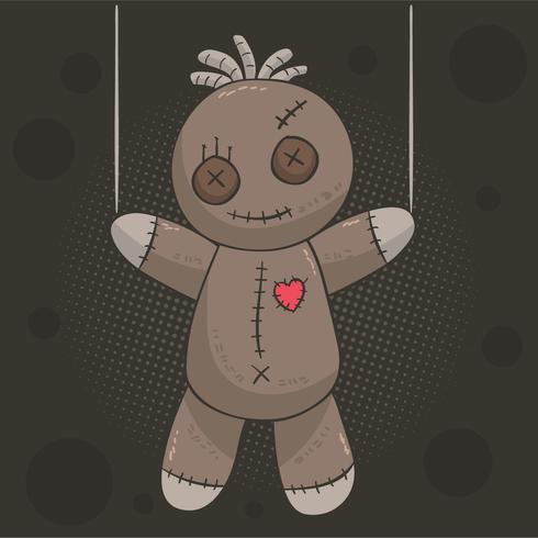 Spooky Voodoo Doll Vector.