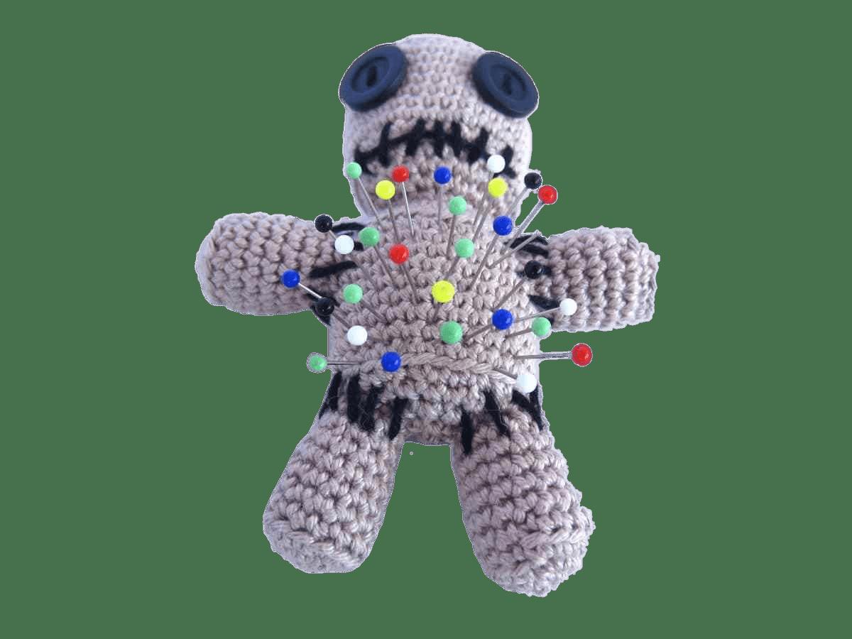 Voodoo Doll Pin Cushion transparent PNG.