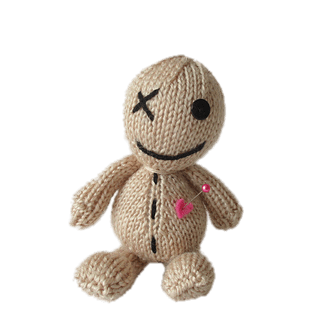 Download Free png voodoo doll with pink heart.